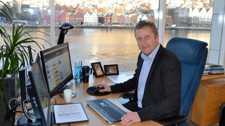 Grieg Seafood CEO Andreas Kvame - the company's focus has narrowed to Norway and Canada