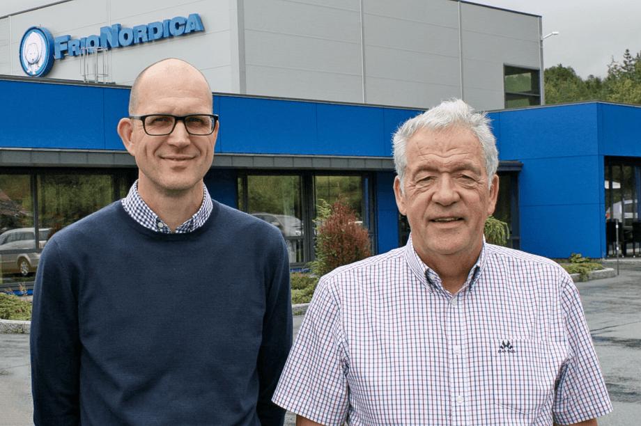 Ketil Røberg, salgs- og markedsdirektør for marine og industri i PTG og Per Johansen, vice president sales i PTG Frionordica. Foto: PTG frionordica