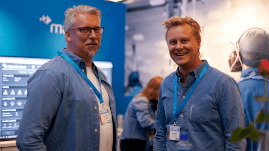 Maritech sales manager Johan Petter Loe, left, and sales director Klas Vangen. Photo: Maritech.