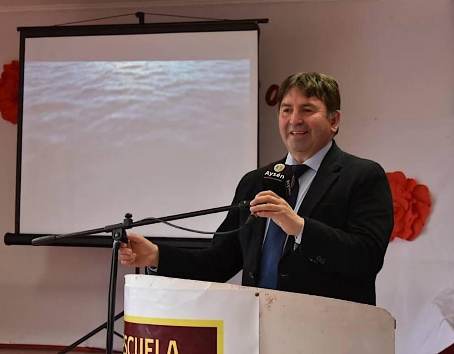 Alcalde de Aysén, Luis Martínez. Foto: Radio Las Nieves.