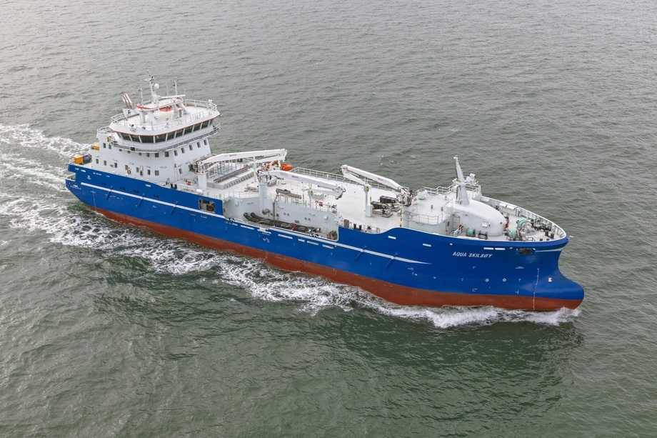 «Aqua Skilsøy» er levert fra Sefine Shipyard i Tyrkia. Foto: Yanmar