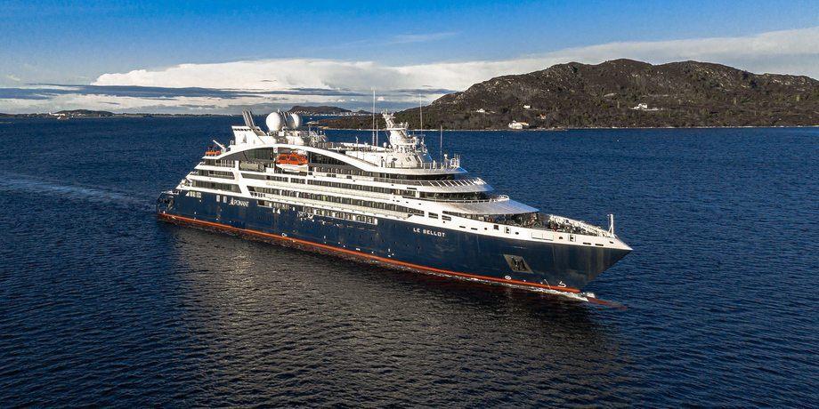 Det femte skipet i Ponants Explorer serie er nå levert fra Vard. Foto: Ponant