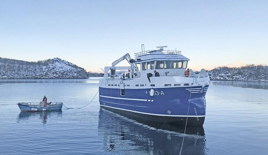 Etter to års arbeid er endelig «Ole Elvan» levert fra Blokken Skipsverft til Andenes Kystfiske AS. Foto: Blokken Skipsverft