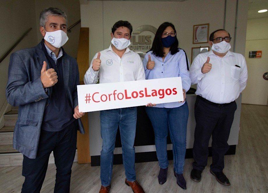 Corfo se encuentra apoyando distintas iniciativas de innovación con soluciones ante Covid-19. Foto: Corfo Los Lagos.