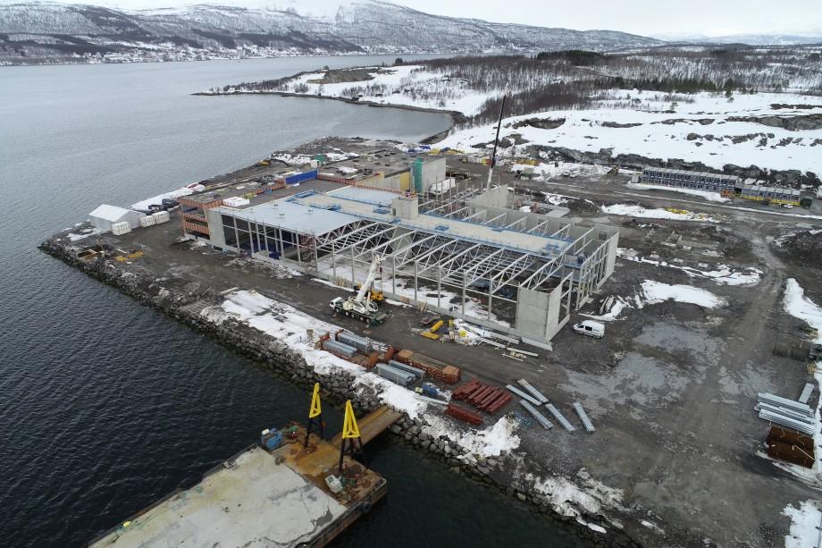 Fra byggingen av produksjonsfabrikken Innovanor til Salmar. Foto: Nor Ingeniør AS