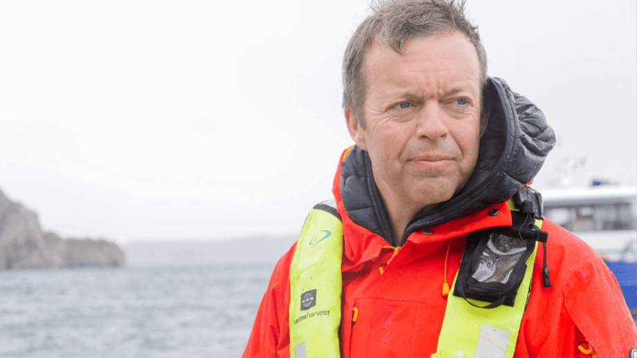 Former Mowi chief executive Alf-Helge Aarskog says electric boats have advantages for aquaculture.