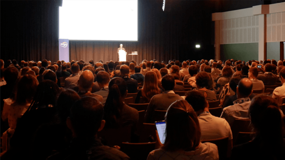 One of the plenary sessions at Aquaculture Europe 2019 in Berlin. This year's event has been postponed until April 2020. Photo: FFE.