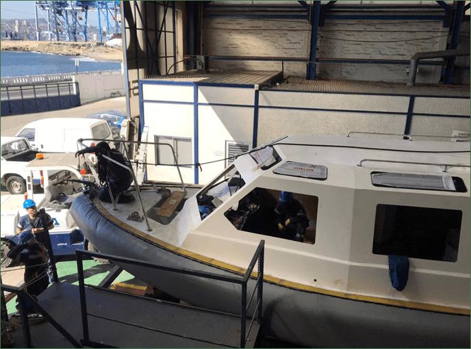 Lancha Pumar tipo WR1250. Foto: Armada de Chile.