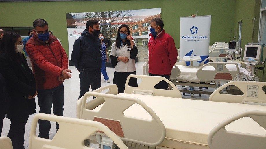 Donación fortalecerá este centro de salud para atención de pacientes Covid-19. Foto: SalmonChile.