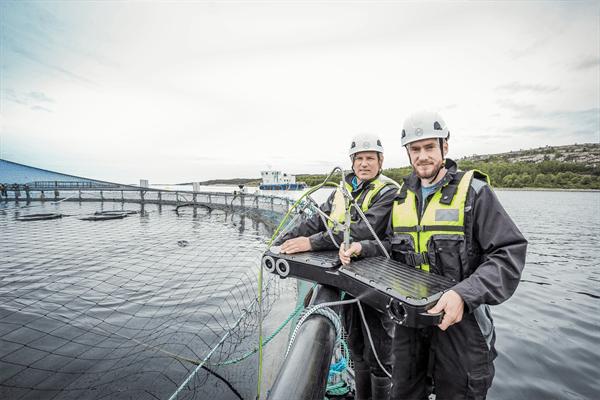 - Fiskehelse er et hett tema, og vi opplever svært sterk interesse fra våre kunder når det kommer til verktøy som gjør de i stand til å ta bedre beslutninger for å bedre fiskevelferden, sier Sven Kolstø i Optoscale. Foto: Optoscale/Gard Nordseth