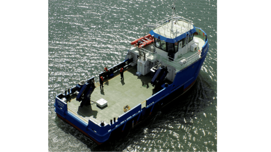 Tuna farmer Fish and Fish Ltd has taken delivery of UK-built workboat Emmaya. Photo: SMS Group.