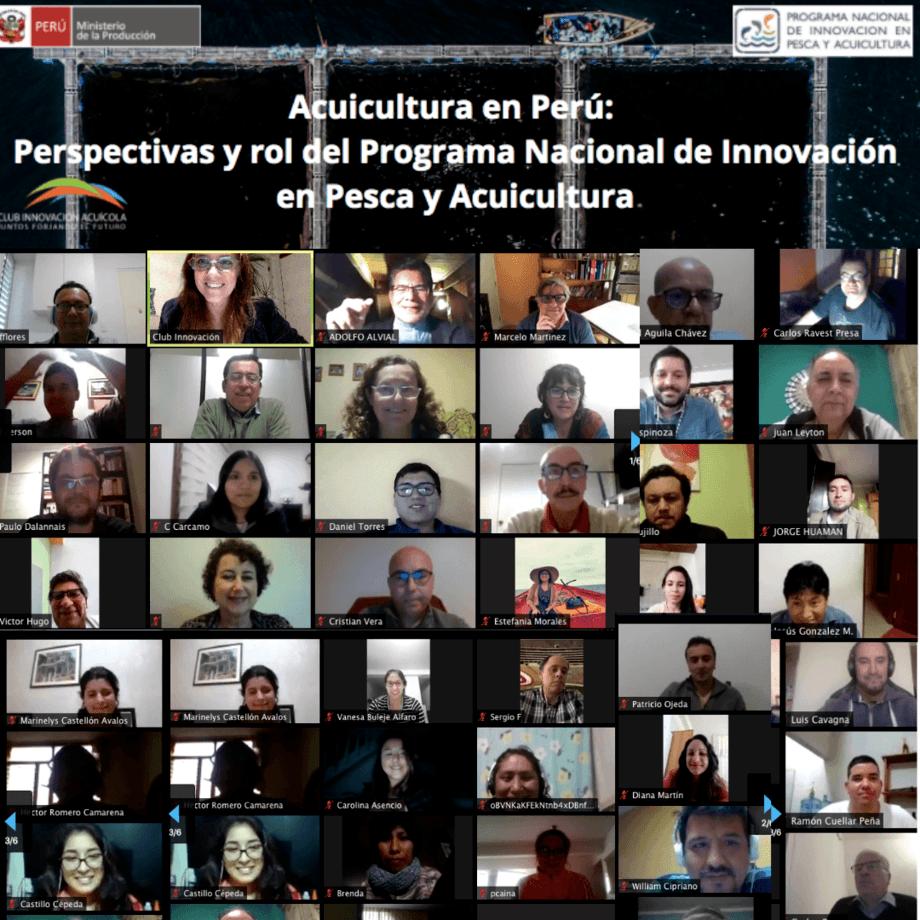 El nuevo webinar contó con más de 100 participantes de distintos países. Imagen: Club de Innovación Acuícola.