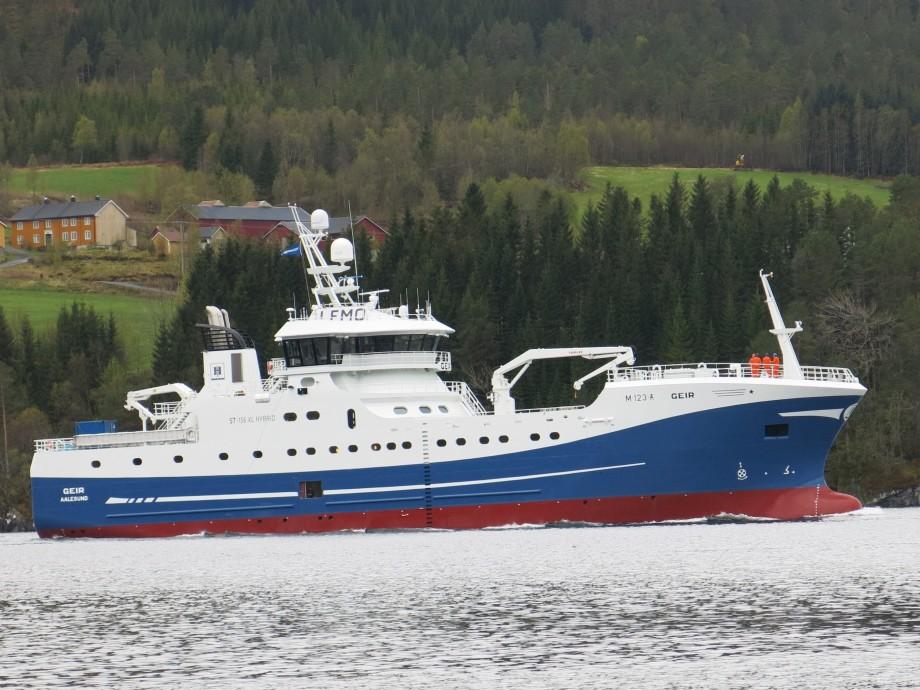 H.P Holmeset sin nye «Geir» er levert fra Vaagland Båtbyggeri. Foto: Håvard Røsvik/Vaagland Båtbyggeri
