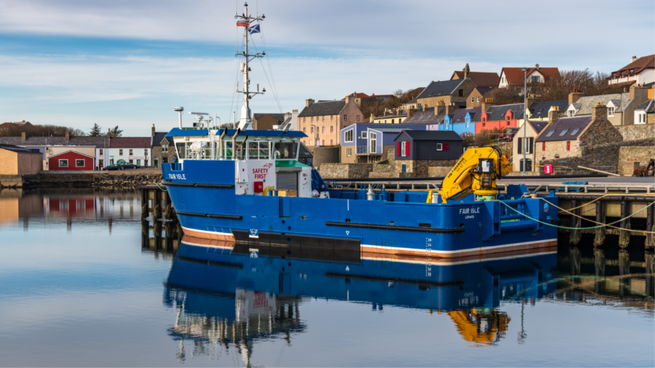 The purpose-built Fair Isle has now entered service with Scottish Sea Farms. Photo: SSF.