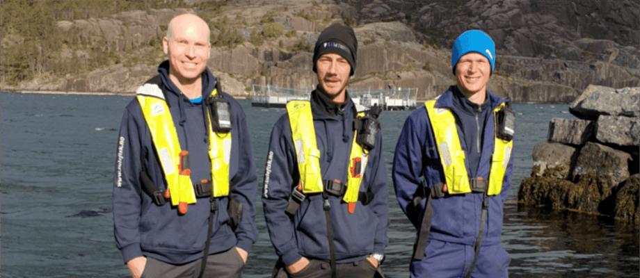 Sulefisk har tilsett tre nye fjes i selskapet. Frå venstre; Trond Osland, Bence Cser og t.h Fredrik Netland. Foto: Sulefisk