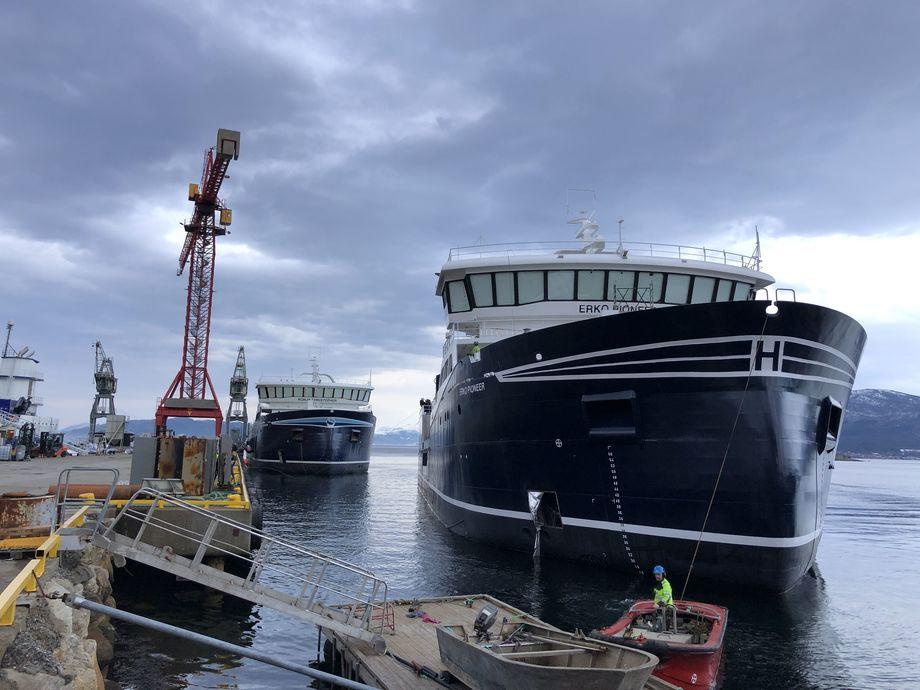 Sammenslåingen av de to brønnbåtselskapene skal gi stor kapasitet. Her ved Horda Pioner. Foto: Hordalaks Holding AS