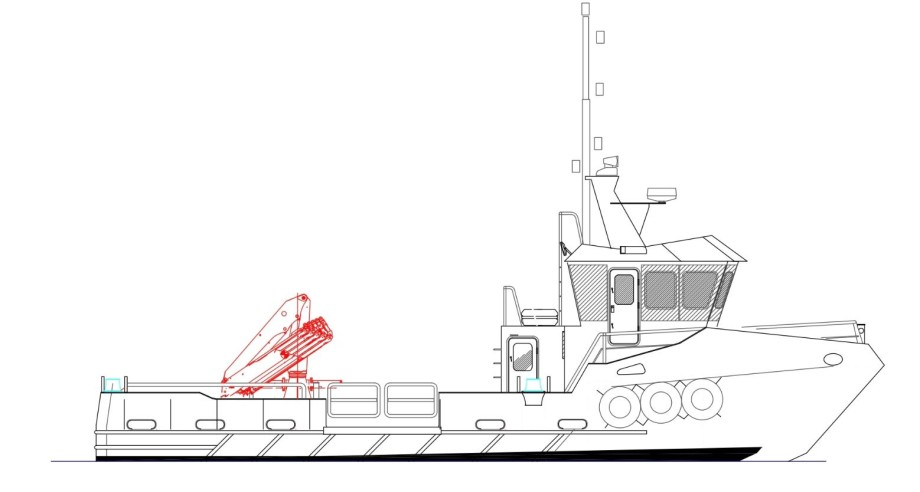 An illustration of the boat currently under construction for SSF in the Highlands. Image courtesy of SSF.