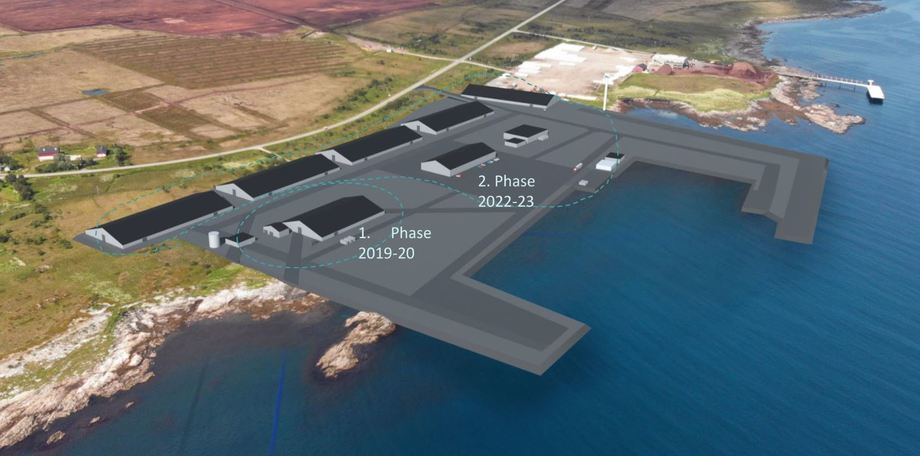Andfjord Salmon is developing a salmon farm at Kvalnes, Andøya, Norway and already has plans for its waste. Image: Andfjord Salmon.
