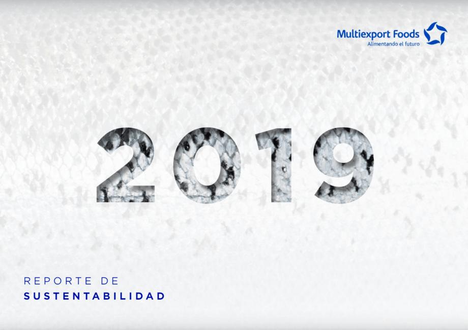 Reporte de Sustentabilidad 2019 de Multiexport Foods. Imagen: Multiexport Foods.