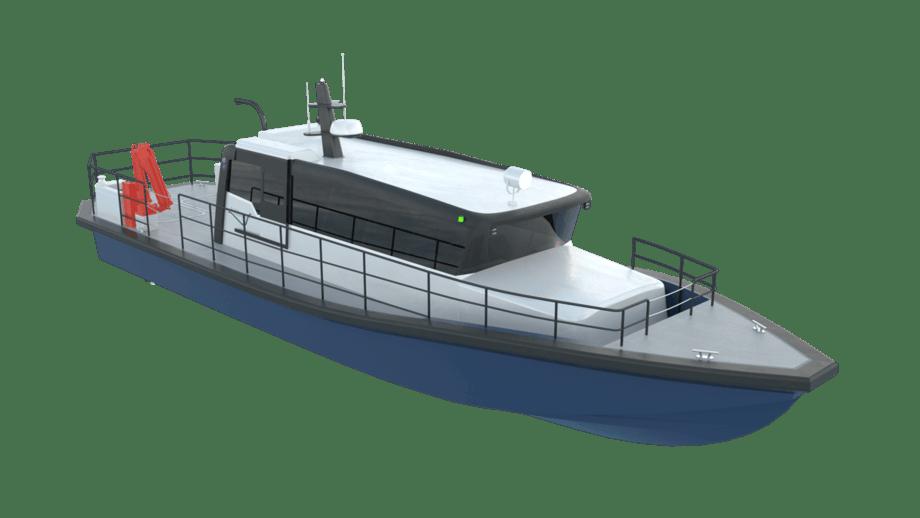 Fartøyet vil bli bygget og utrustet hos Tuco Yacht Verft ApS i Faaborg Danmark som også har designet det. Illustrasjonsfoto: ProZero Norge AS.