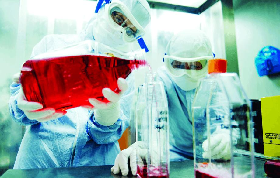 Det høyt kvalifiserte personalet ved Benchmarks vaksineproduksjon. Foto: Benchmark.