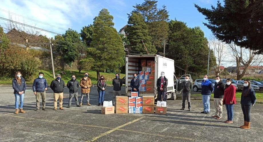 Entregas se realizaron en Osorno y otras localidades y comunas de la región de Los Lagos. Foto: Ventisqueros.