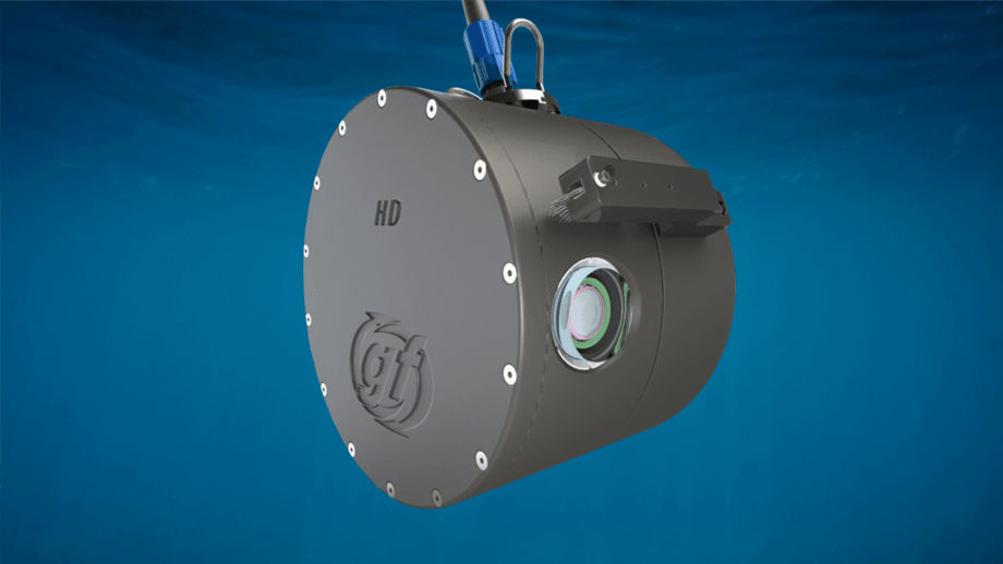 Gael Force's newly-launched SeaSight HD camera. It includes a brush for cleaning the lens. Image: Gael Force.
