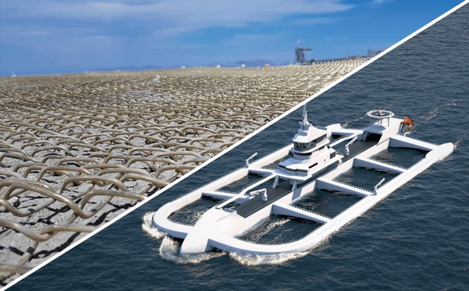 El diseño del artefacto naval contempla el uso de redes de aleación de cobre. Imagen: Oatech.