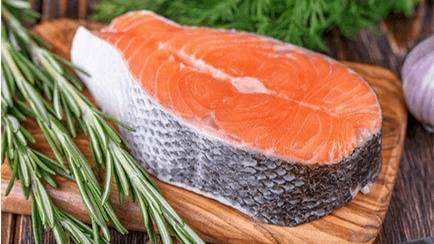 A steak from an AquAdvantage salmon. Nearly three-quarters of US consumers asked about the fish said they would try the fish at least once. Photo: AquaBounty.