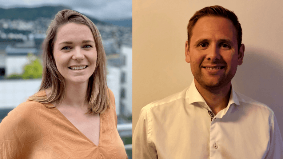 Ocean Quality's Helene Andrea Gjerde Lund becomes Grieg's team leader for Europe, and Sindre Ramsevik Kvalheim joins from Mowi as senior key account manager. Photos: Grieg.
