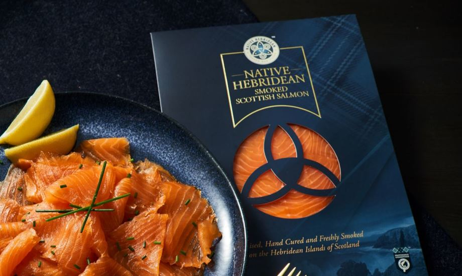 SSC's Native Hebridean brand smoked salmon. SSC harvested 10,500 tonnes of fish between July and September this year. Photo: SSC.