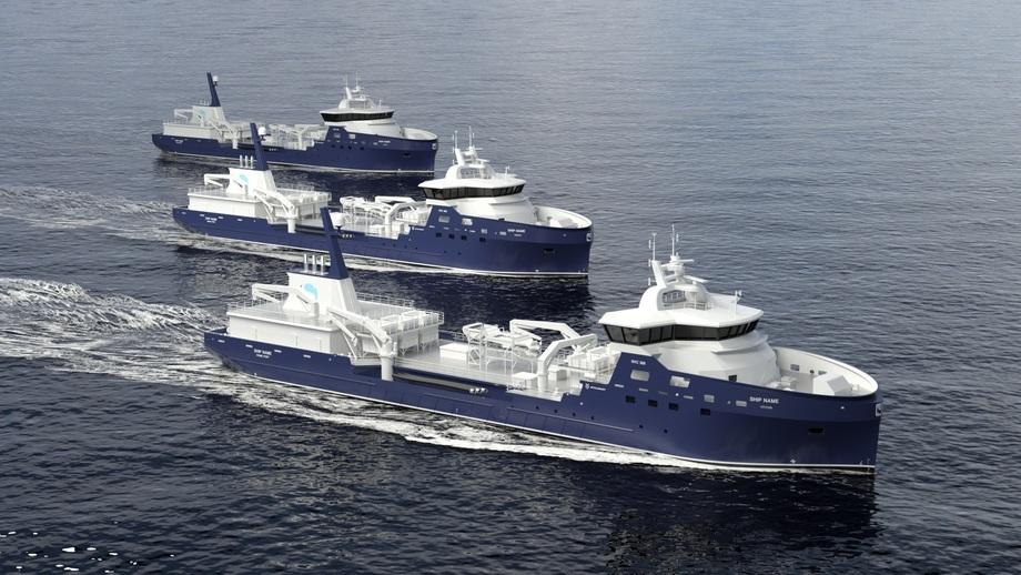 Ny kontrakt er i boks for Myklebust Verft. Illustrasjon: Kongsberg Maritime