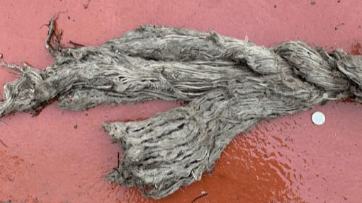One of the broken ropes from the Carradale North mooring system. Photo: Mowi Scotland.