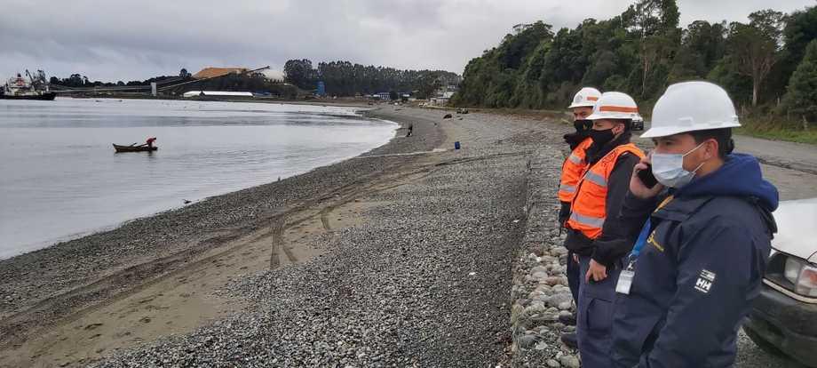 Salmones Camanchaca activó un plan especial de contingencia frente a antecedentes de fuga de peces desde el proceso primario de su planta de San José, Calbuco. Imagen: Sernapesca.