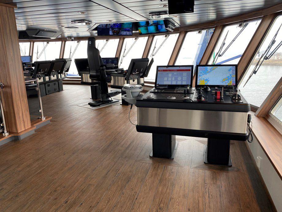 Ro Vision vant i dag prisen Ship of the Year 2020. Foto fra bro: Larsnes Mek. Verksted.