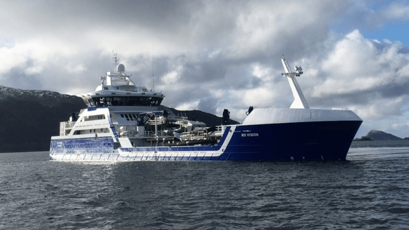 The hybrid wellboat Ro Vision has been named Norway's Ship of the Year 2020. Photo: Rostein.