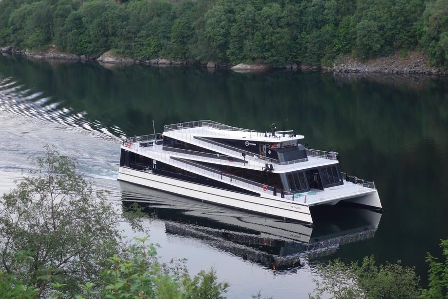 Det tredje fartøyet til rederiet The Fjords, «Legacy of The Fjords» er levert fra Brødrene Aa. Foto: The Fjords