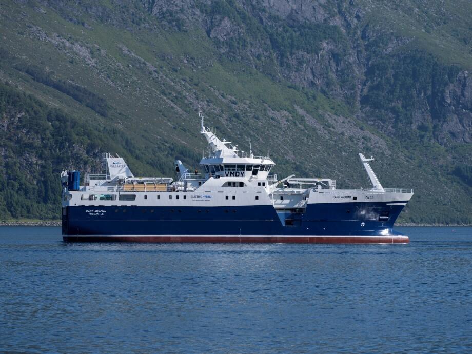 «Cape Arkona» har allerede startet seilingen til sitt nye hjemland. Foto: Baatbygg