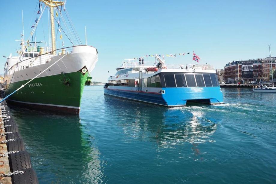 Det er stor interesse for utslippsfrie hurtigbåter. Miljødirektoratet har mottatt søknader på nesten 100 millioner kroner fra en rekke fylkeskommuner. Foto: Martin Fossum Lerberg, Klima- og miljødepartementet.