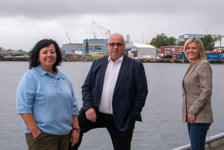 Kristin Davidsen, Lars Alvestad og Hedda Grip Vikse er spente før den første digitale utgaven av Sjøsikkerhetskonferansen. FOTO: Sjøfartsdirektoratet