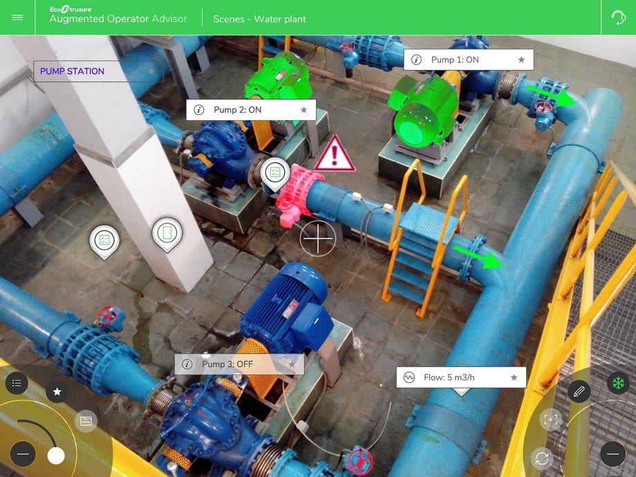 Captura de pantalla de herramienta Ecostruxure Augmented Operator Advisor. Imagen: Schneider Electric.