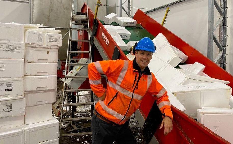 Gerente de Operaciones de Ragn-Sells Bergen, Tomas Nesse. Foto: Ragn-Sells.