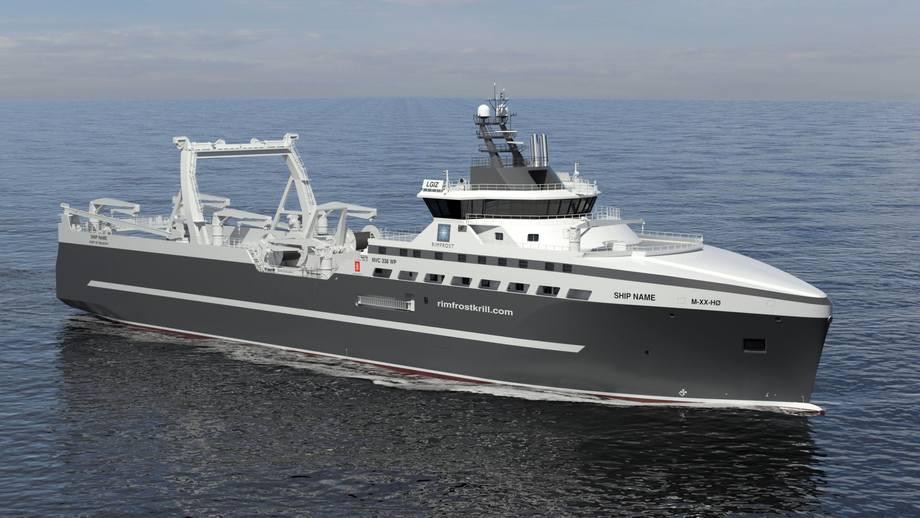 Det nye fartøyet skal bygges ved Westcon, og leveres i 2022. Illustrasjon: Kongsberg Maritime