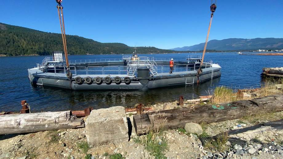 The semi-closed containment system goes on trial in BC. Photo: Cermaq Canada