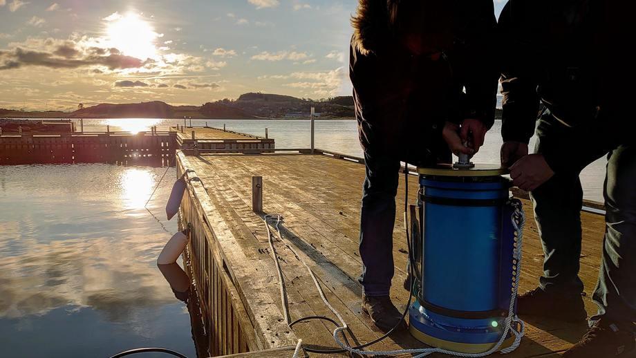 Prototypen før den senkes i sjøen. Foto: SubC3D.