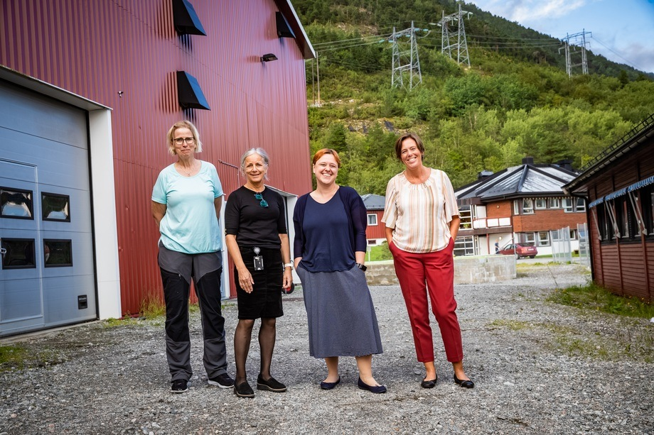 The organising committee (from left): Ingrid Lein (Nofima), Anne Gulla Hagen (SUNS), Jelena Kolarevic (Nofima) and Åsa Espmark (Nofima). Photo: Terje Aamodt/Nofima