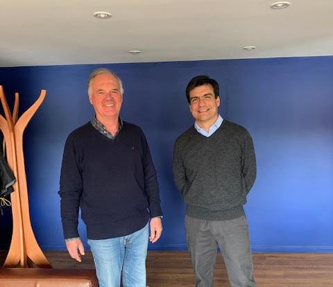 Rolf Zehnder, a la derecha, junto a Eduardo Mas Huber. Foto: Sitecna.