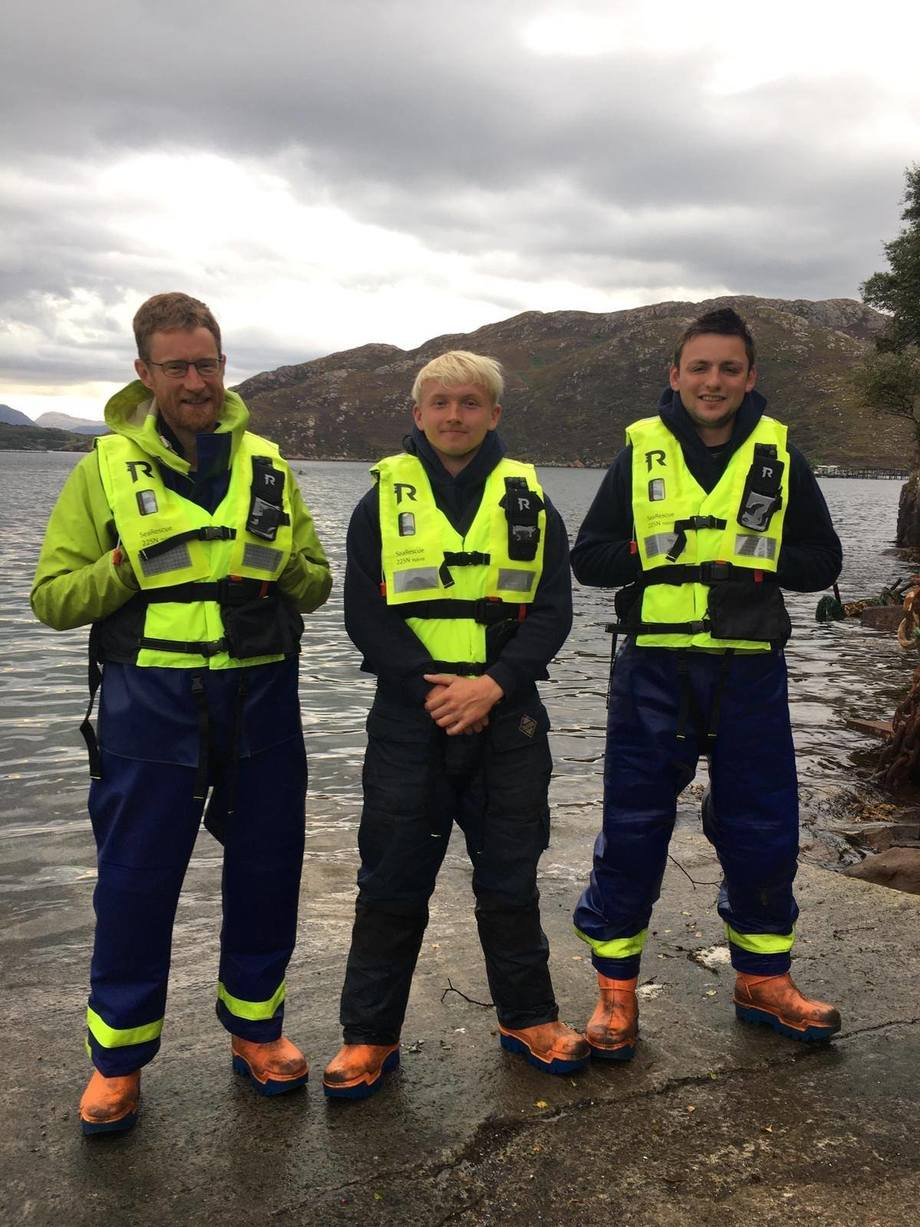 SSC staff (from left to right) Tom Charles Edwards, Gregor Oliver and Joseph Finlayson. Photo: SSC