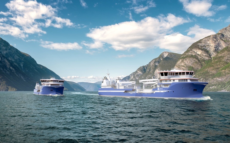 De nye fartøyene skal bygges i Tyrkia. Illustrasjon: Salt Ship Design