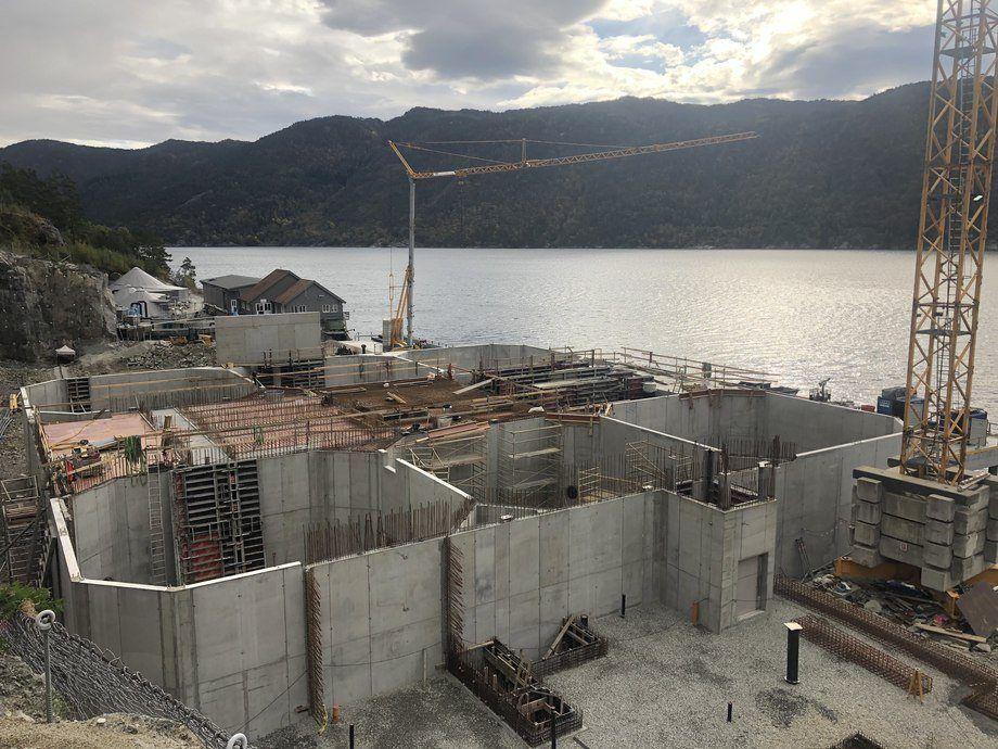 Mowi está desarrollando una nueva planta de incubación con tecnología RAS en Noruega. Foto: Mowi.